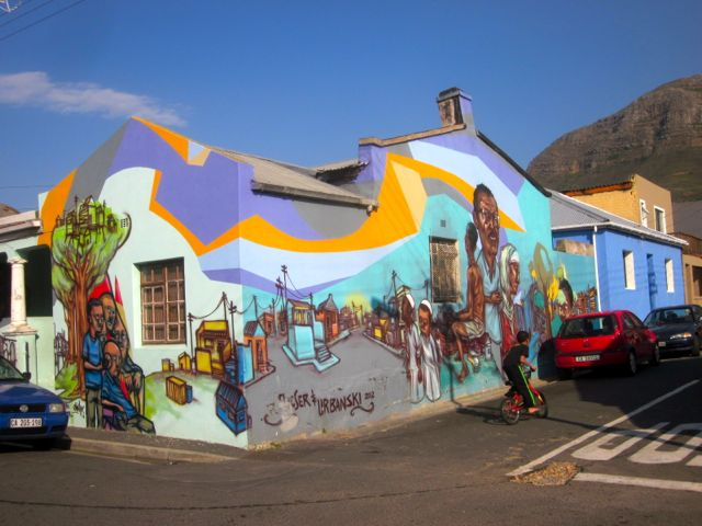 House fully painted with art in Woodstock