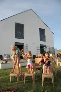Kids playing the good old fashioned way at the Terra Madre Market!