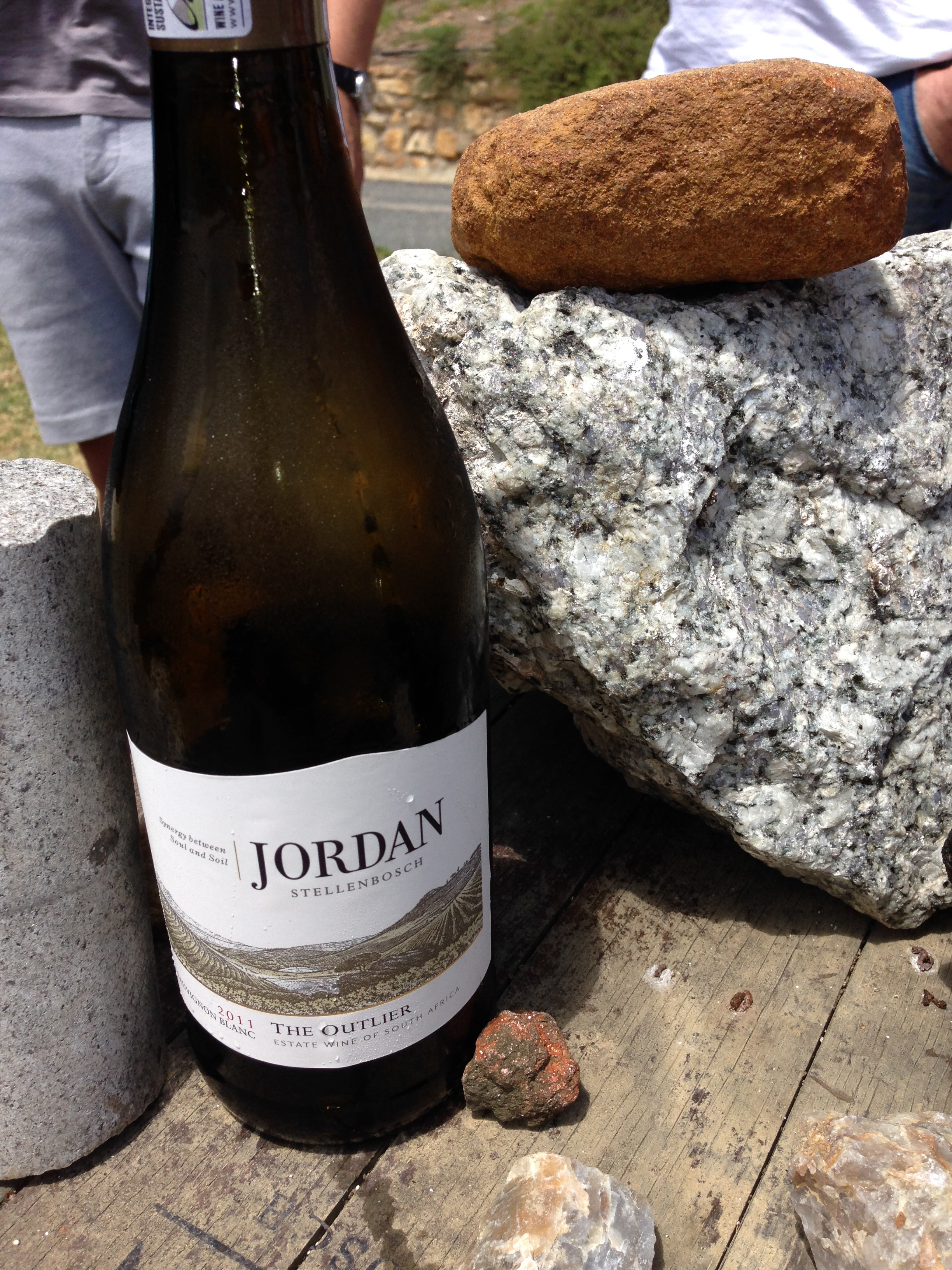 Jordan Wine - planned around the rocks!