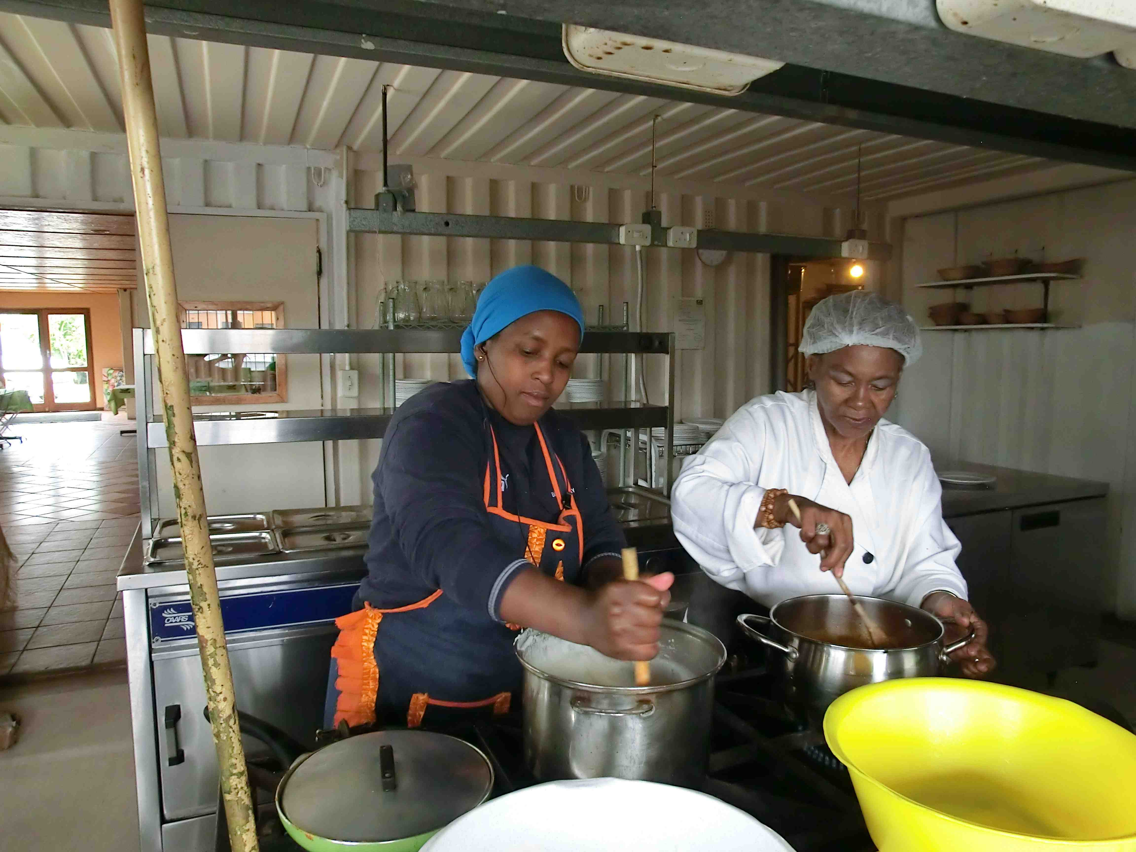 Mamma Lindy always outsources making the pap! She is a true Xhosa lady!