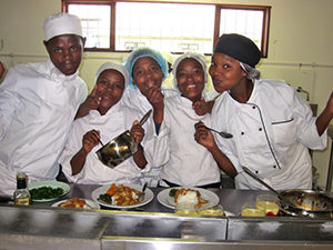 African Cooking at a Cooking School in the Langa Township of Cape Town